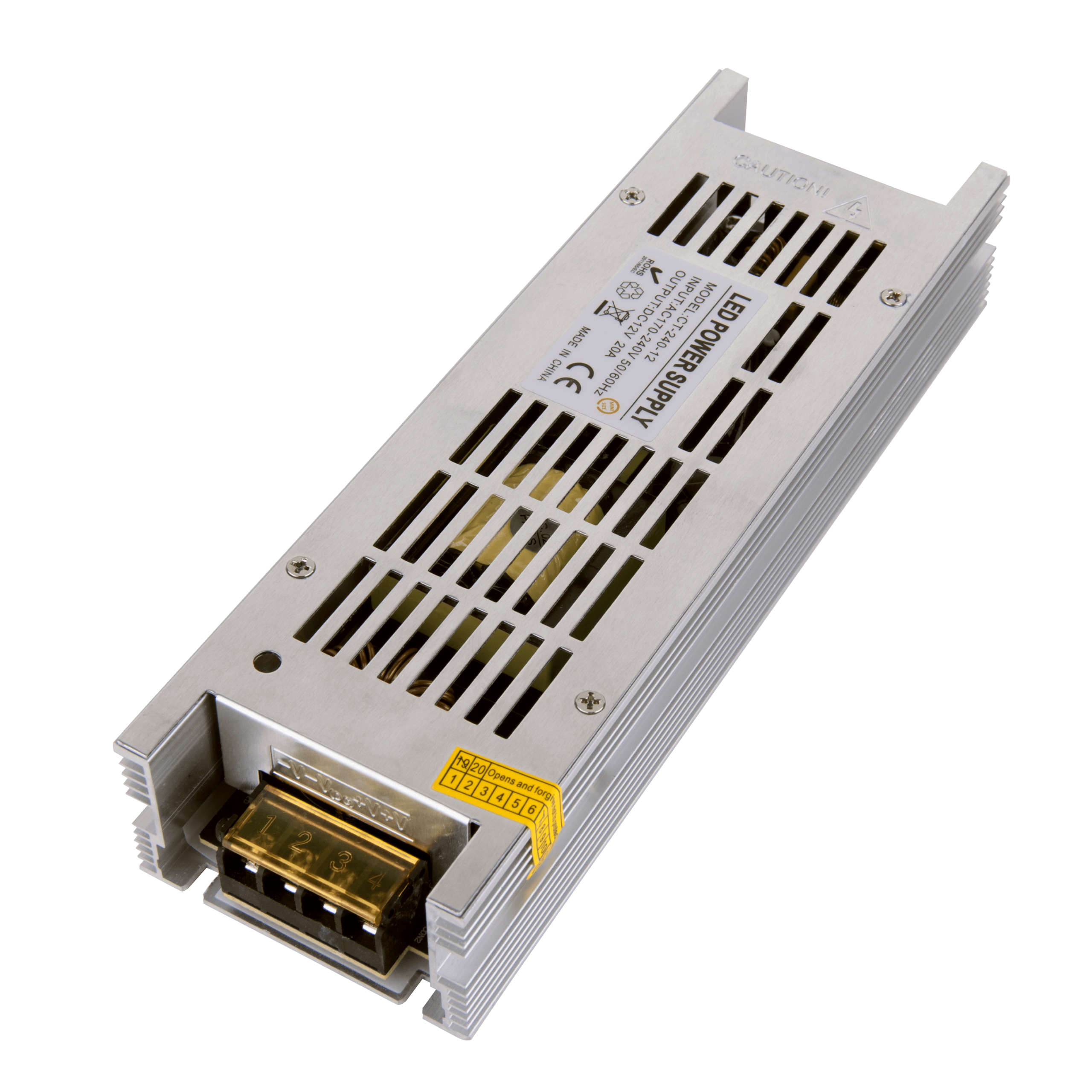 Трансформатор 250W 12V IP00 LST 20A
