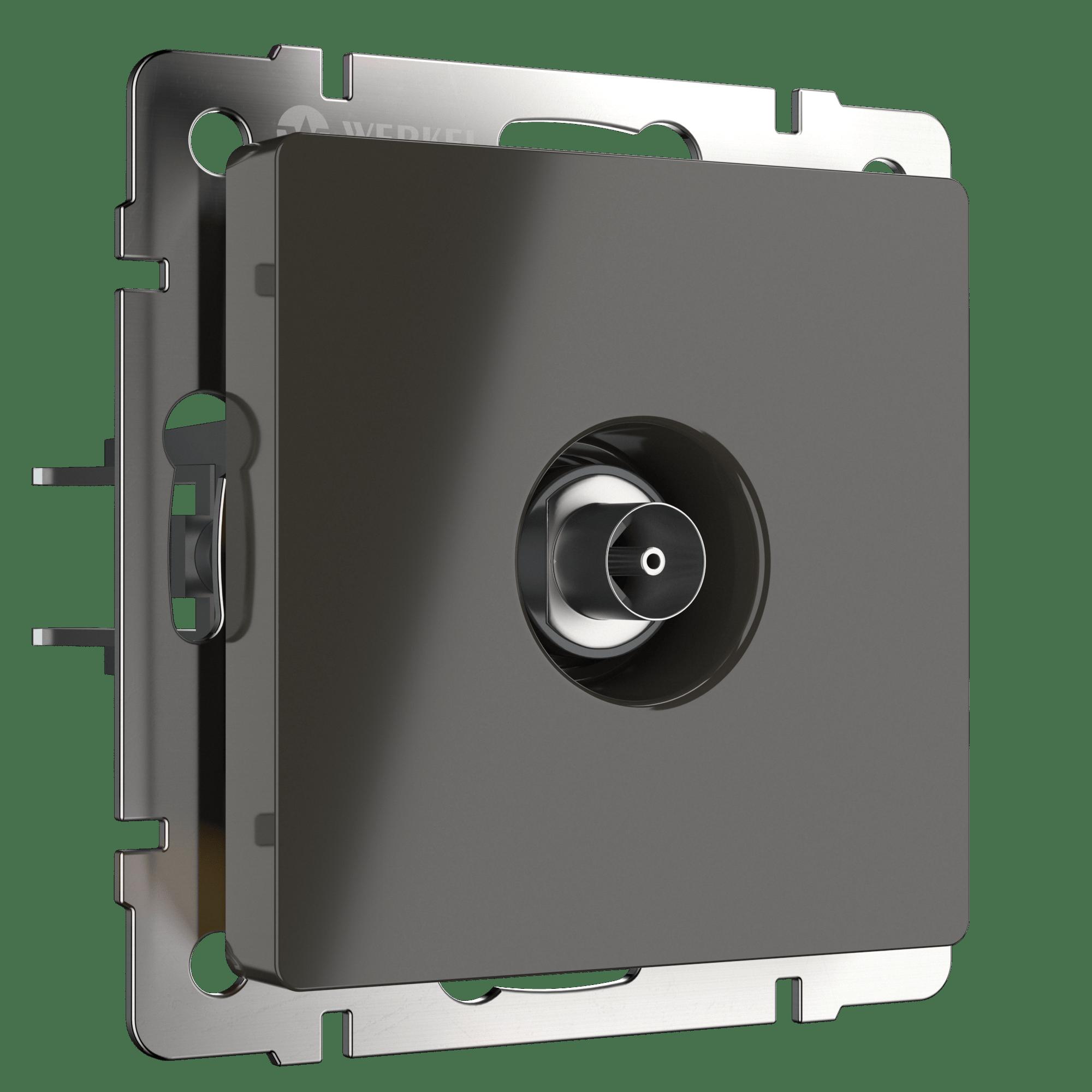 WL07-TV-2W/ ТВ-розетка проходная  (серо-коричневый)