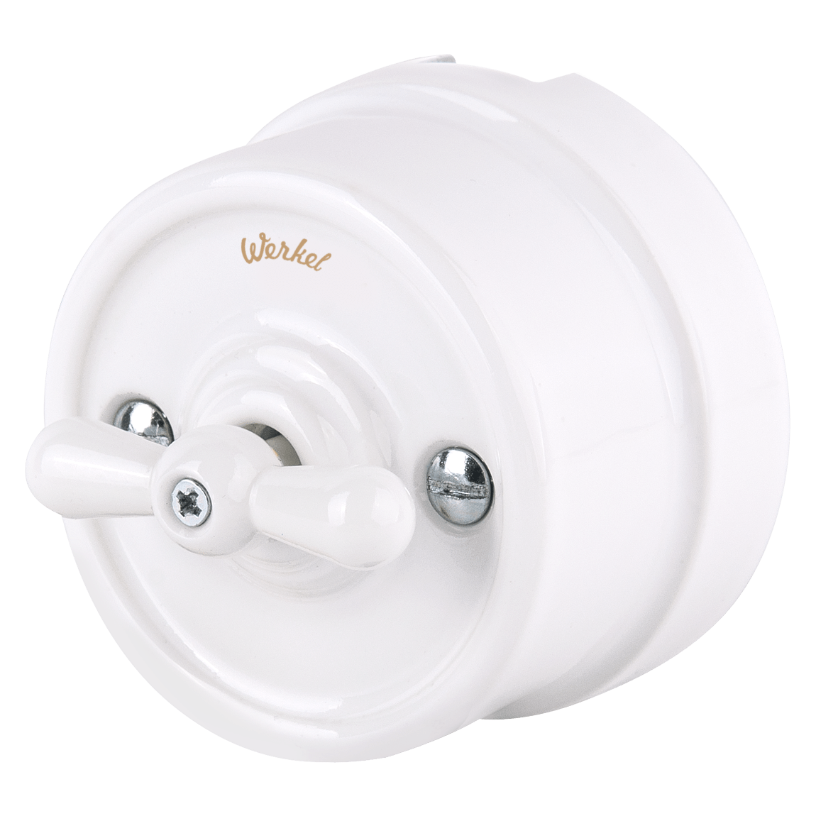WL18-01-05/ Выключатель на 4 положения двухклавишный (белый) Ретро