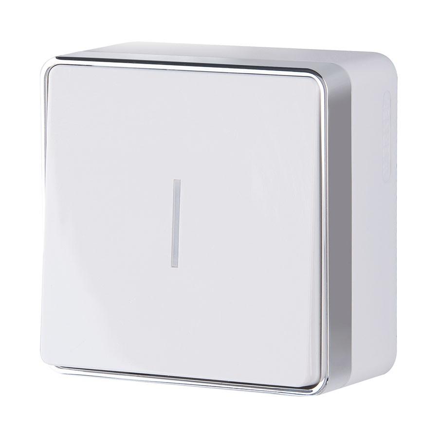 WL15-01-04/ Выключатель одноклавишный с подсветкой Gallant (белый)