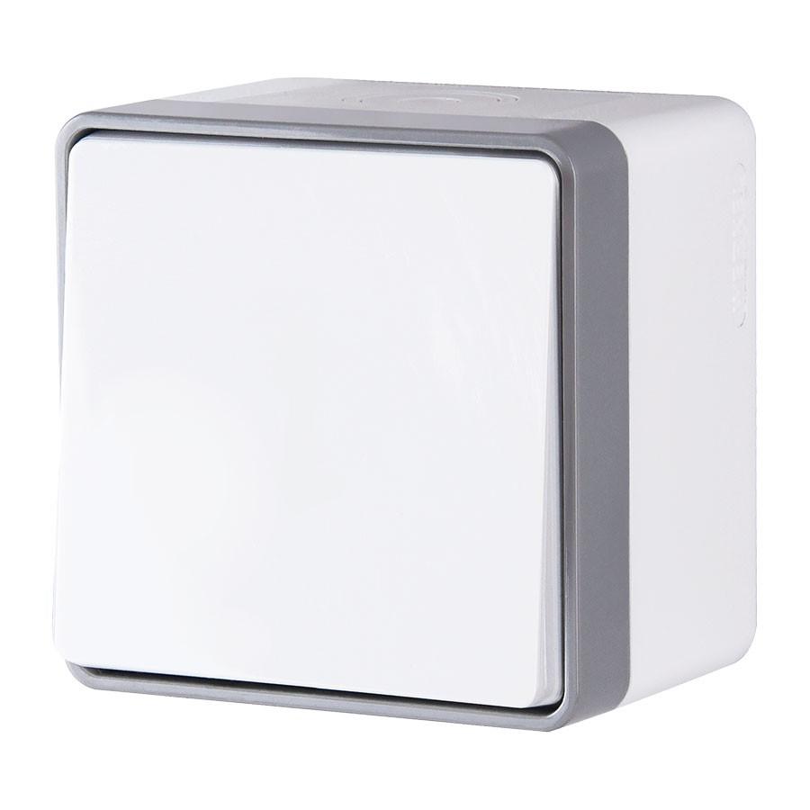 WL15-01-02/ Выключатель одноклавишный влагозащищенный Gallant (белый)