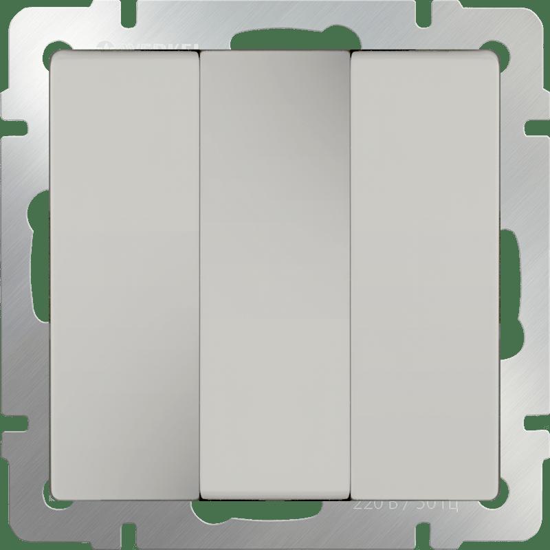 WL03-SW-3G-ivory /Выключатель трехклавишный (слоновая кость)