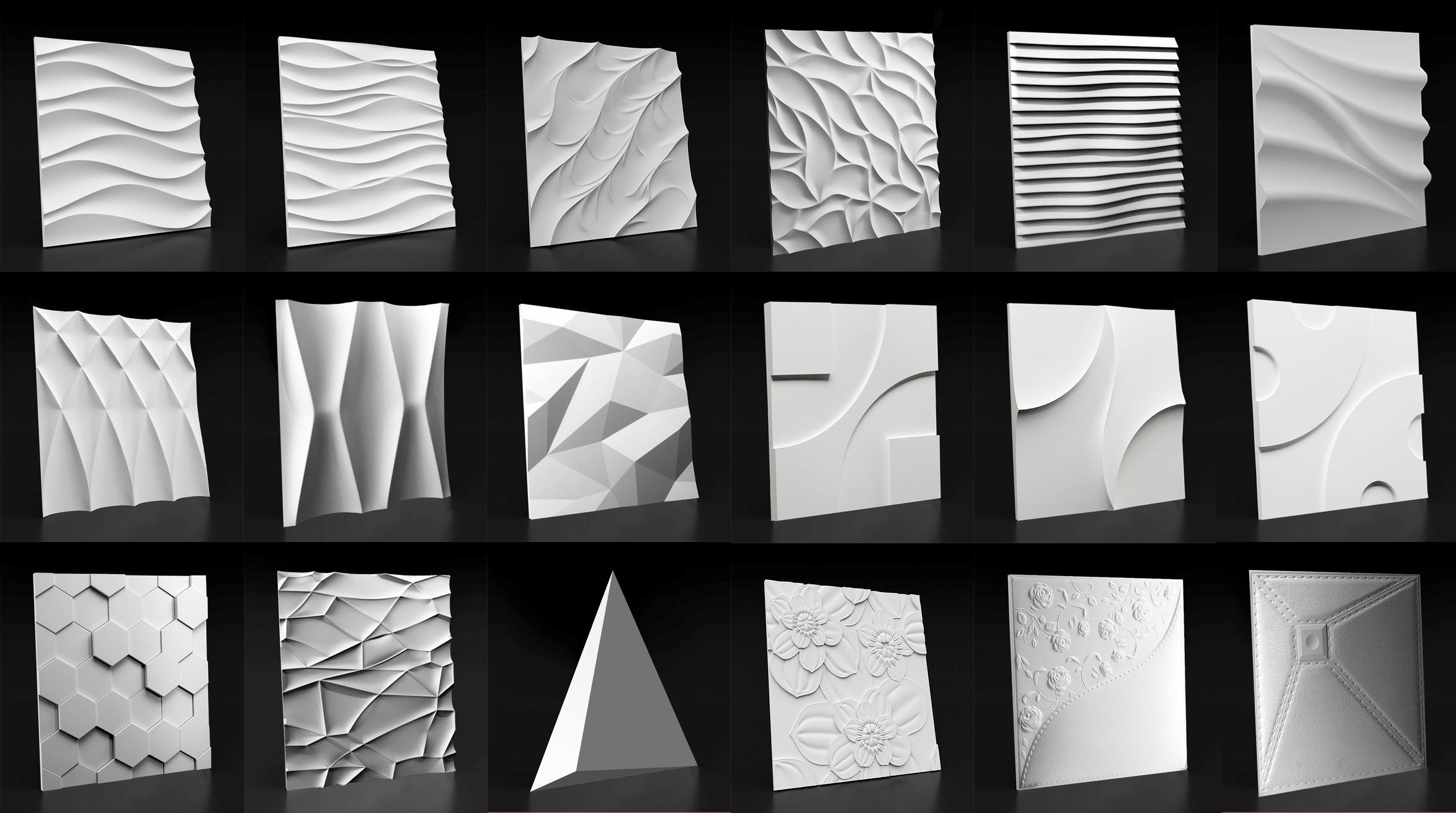 Виды стеновых 3D панелей из гипса