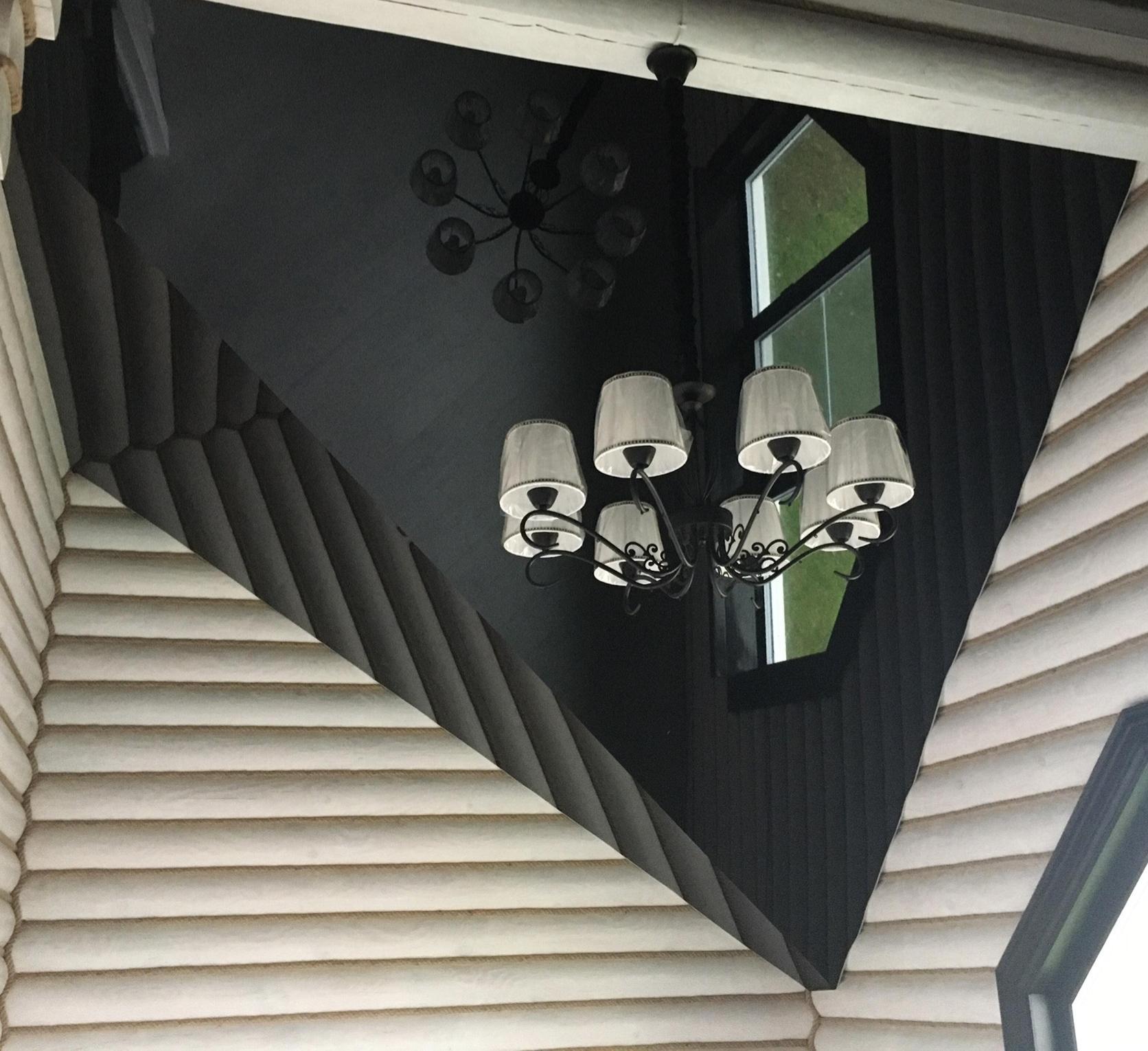 натяжной потолок черный